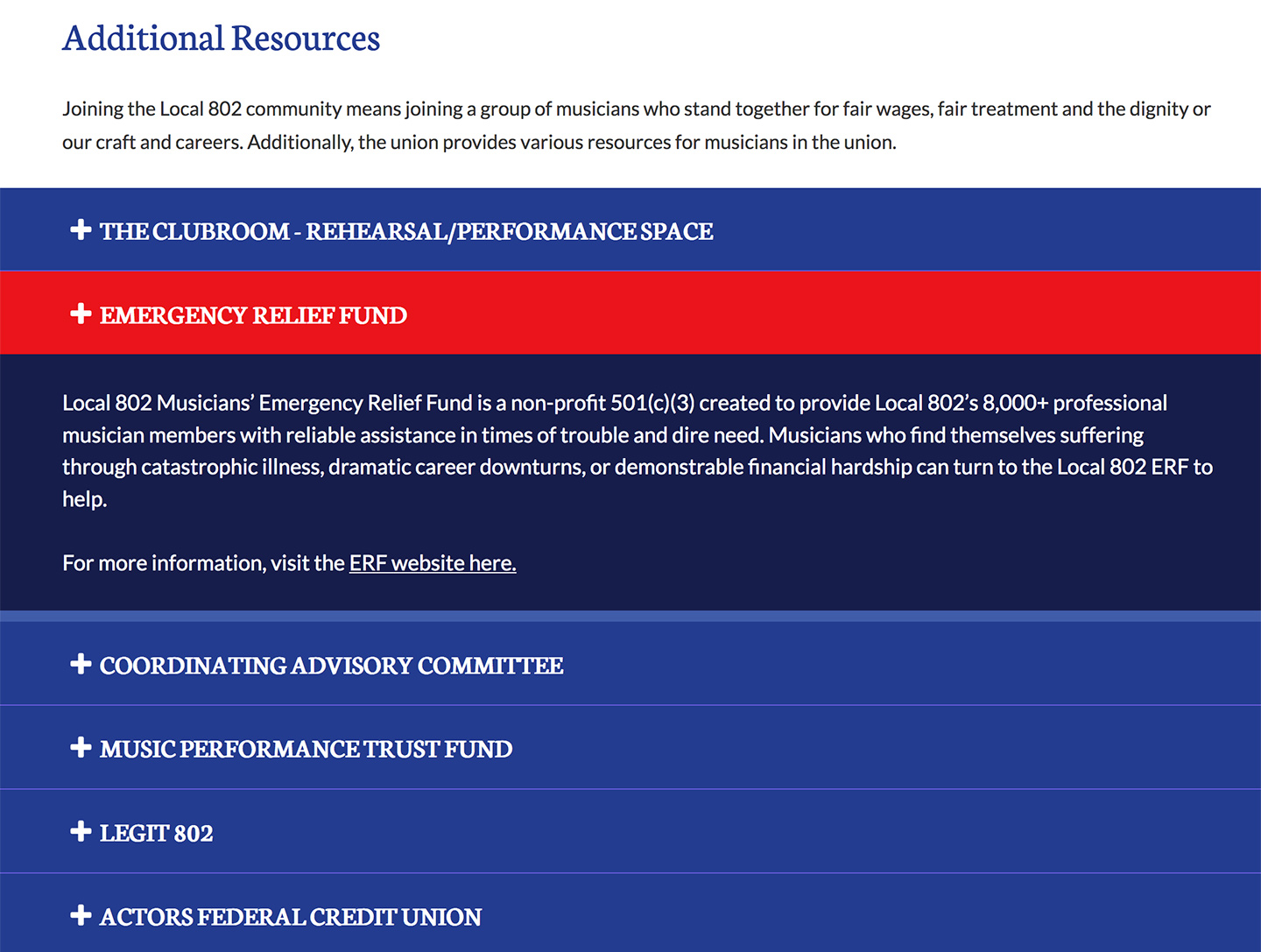 American Federation of Musicians NYC Local 802: Expanding Slots Interactive