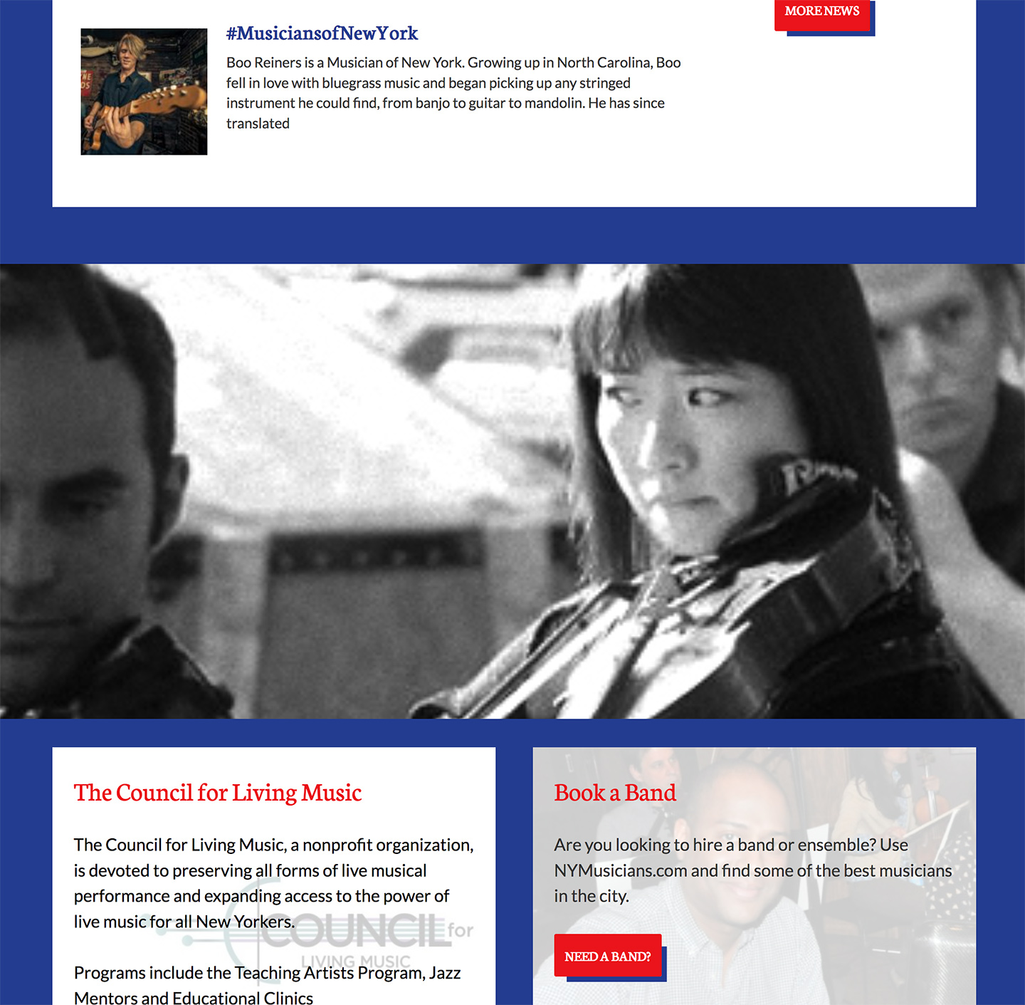 American Federation of Musicians NYC Local 802: Local 802 Homepage Features