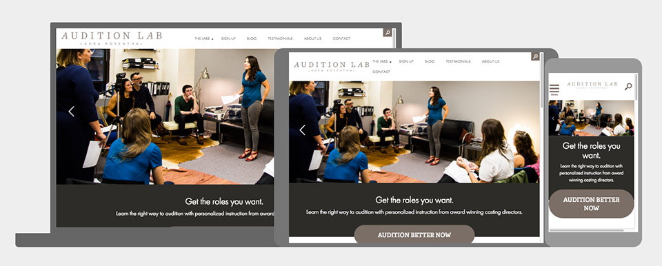 Laura Rosenthal Audition Lab: Responsive and Mobile