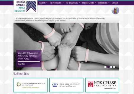 Breast Cancer Family Registry Homepage - Social Ink