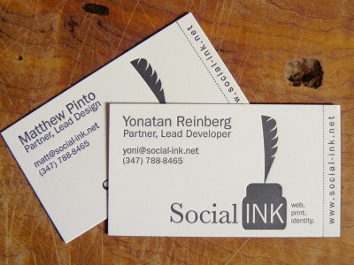 Social Ink Business Cards
