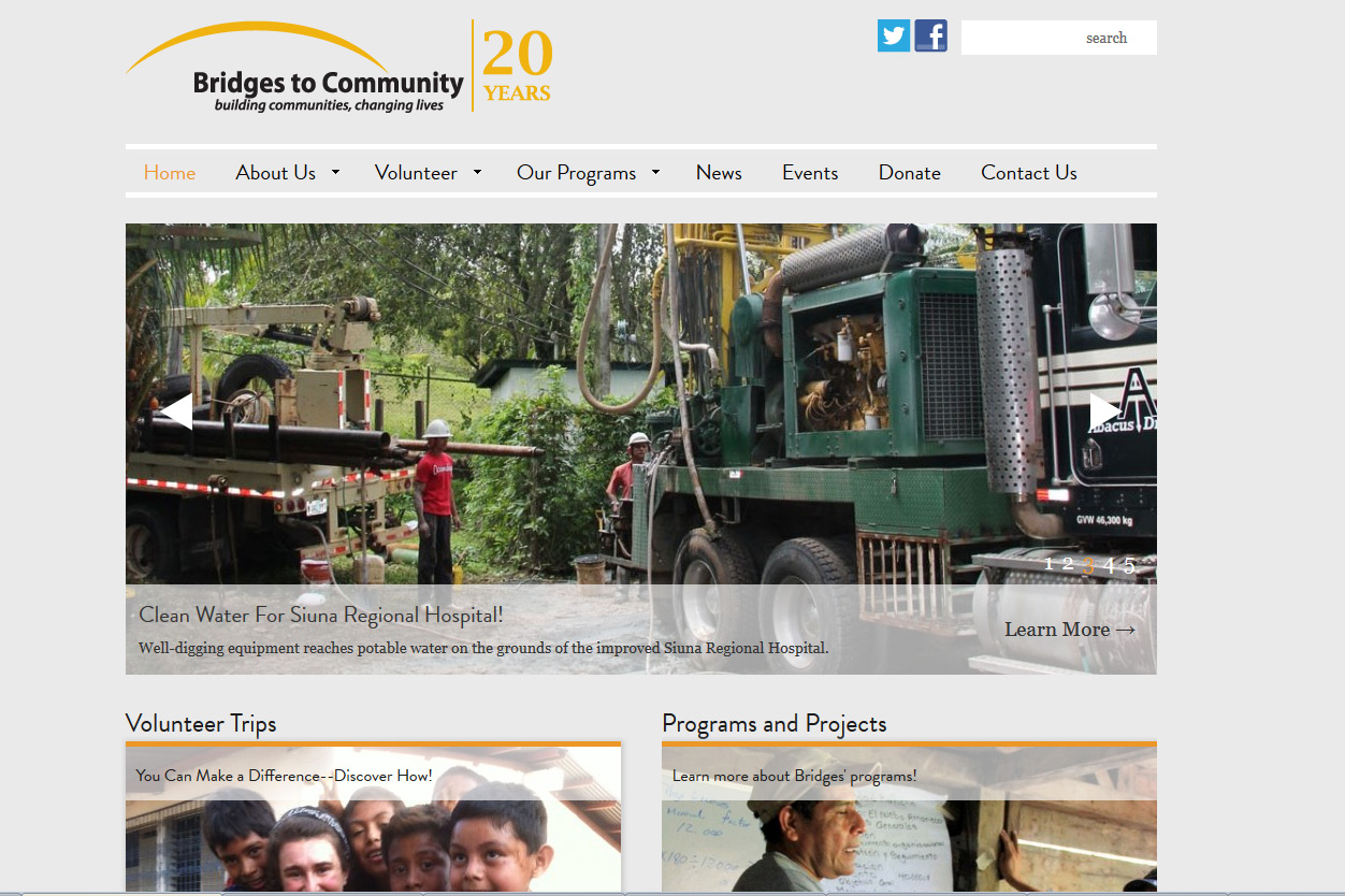 Bridges to Community revamps their website with a clean, action-oriented vision.