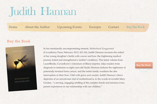 New Website for New York Based Writer, Judith Hannan launches Motherhood Exaggerated