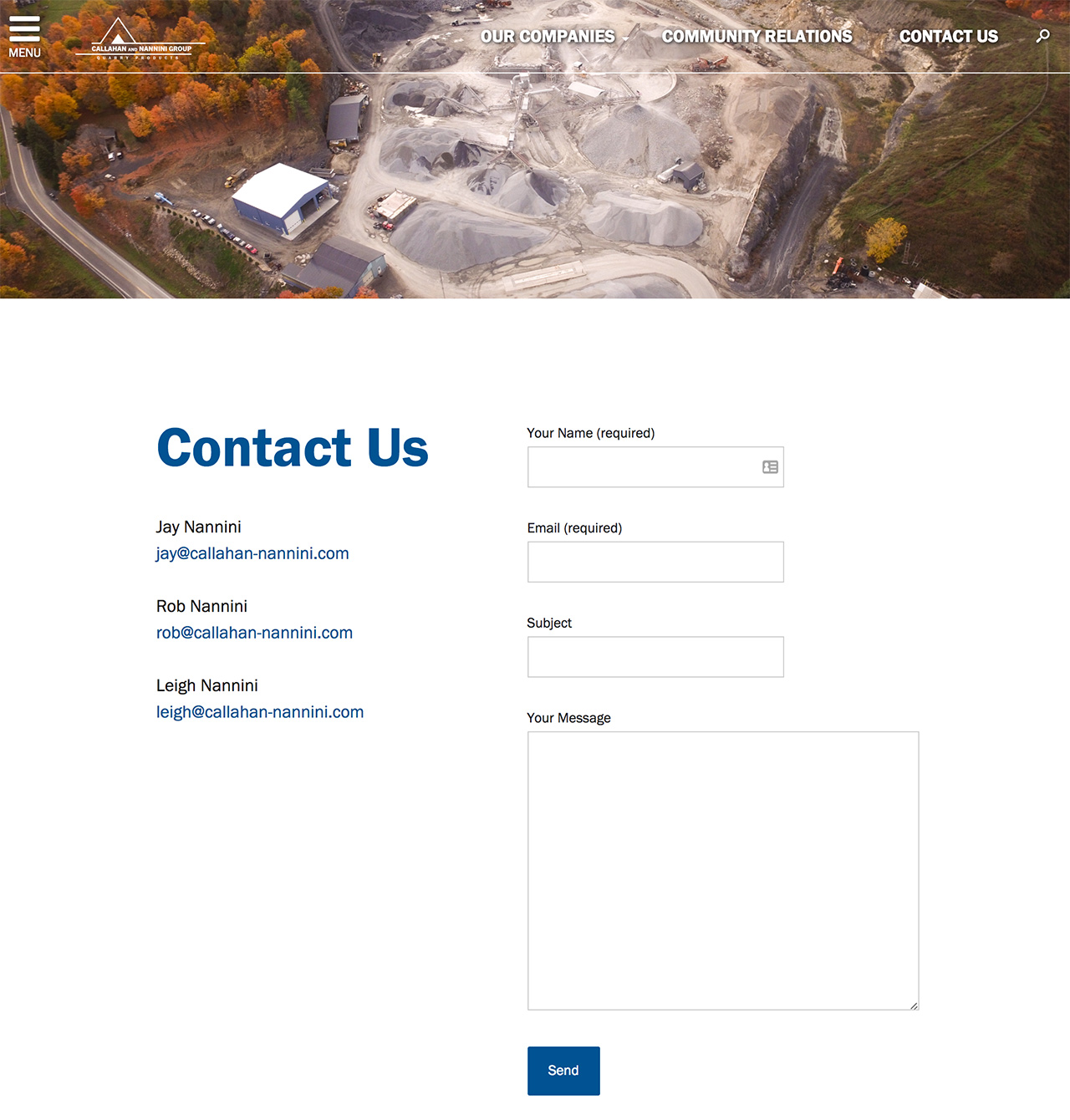 Callahan and Nannini Group: Callahan and Nannini Group Contact