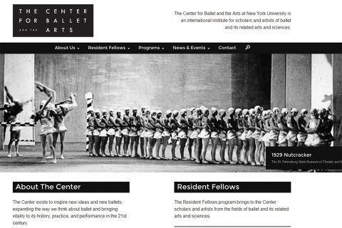 NYU Center for Ballet and Arts - Homepage - Social Ink