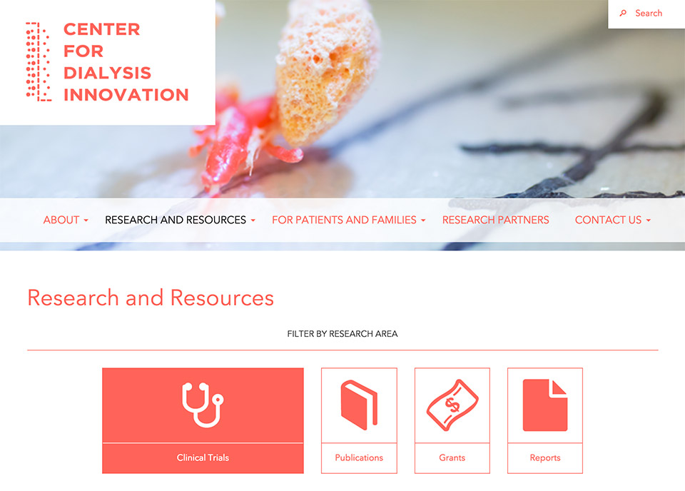 A New Home on the Web for the Center for Dialysis Innovation