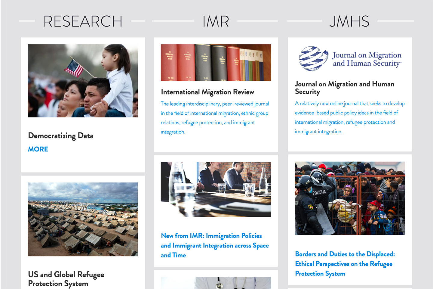 CMSNY: Center for Migration Studies: Center for Migration Studies - Featured Modules