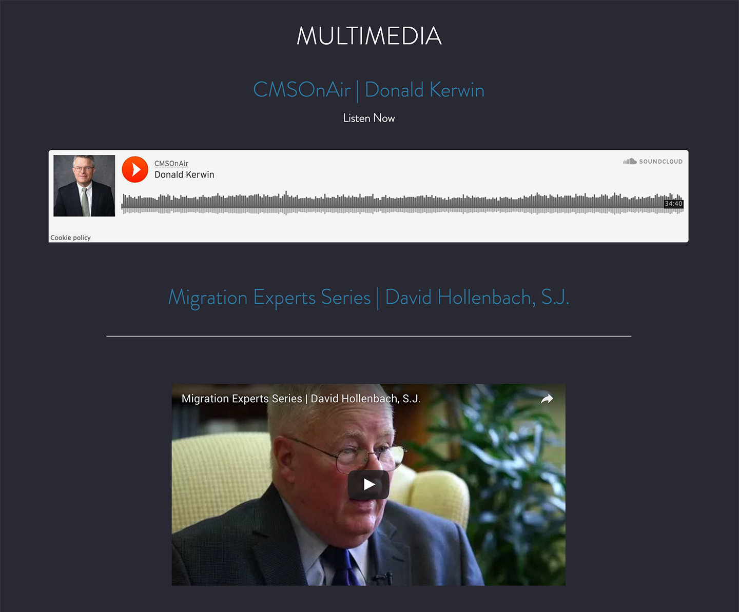 Center for Migration Studies - Multimeida