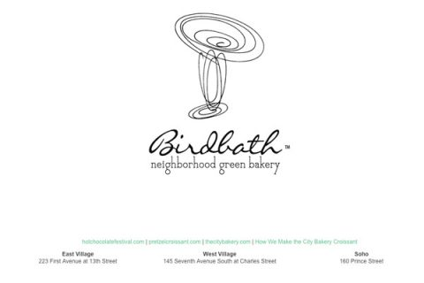 Birdbath Bakery: Internal Home