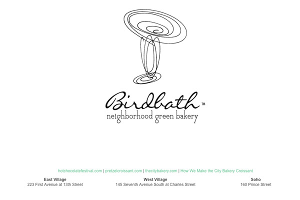 The City Bakery / Birdbath Bakery