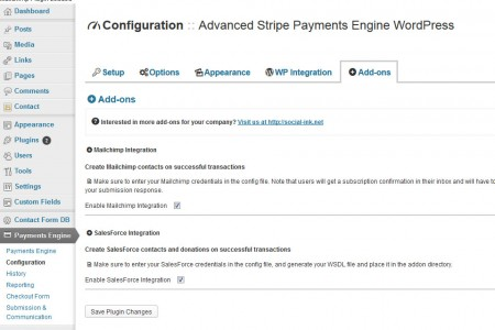 Advanced Payment Engine WordPress - AddOns
