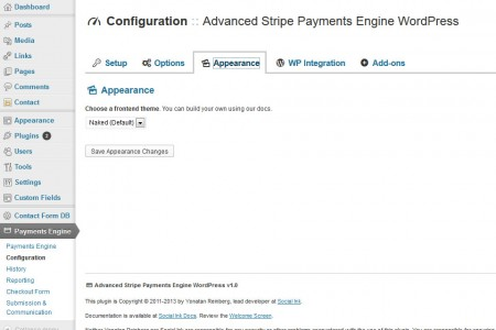 Advanced Payment Engine WordPress - Appearance