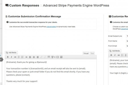 Advanced Payment Engine WordPress - Customize Responses