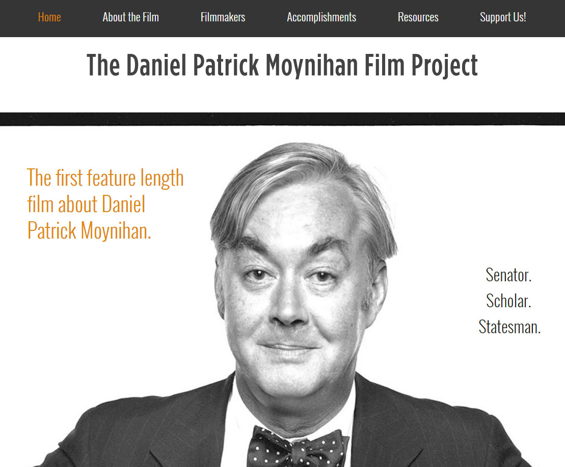 New Site for the Daniel Patrick Moynihan Film Project