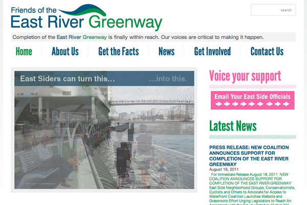 New website for Friends of the East River Greenway launches!
