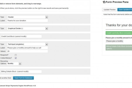 Advanced Payment Engine WordPress - Monthly Backend Example (backend)