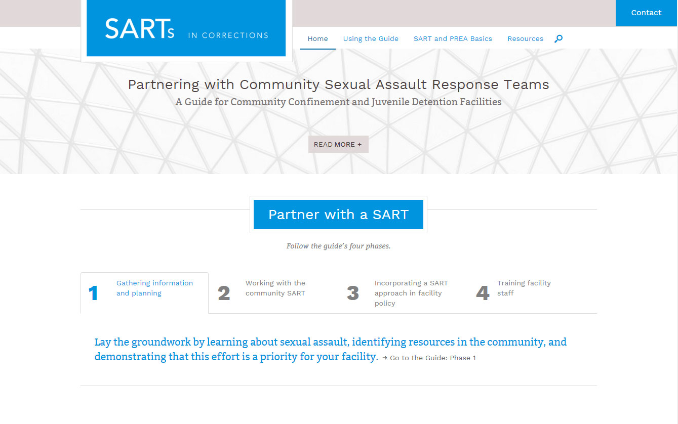 SARTs in Corrections Launches Online Guide
