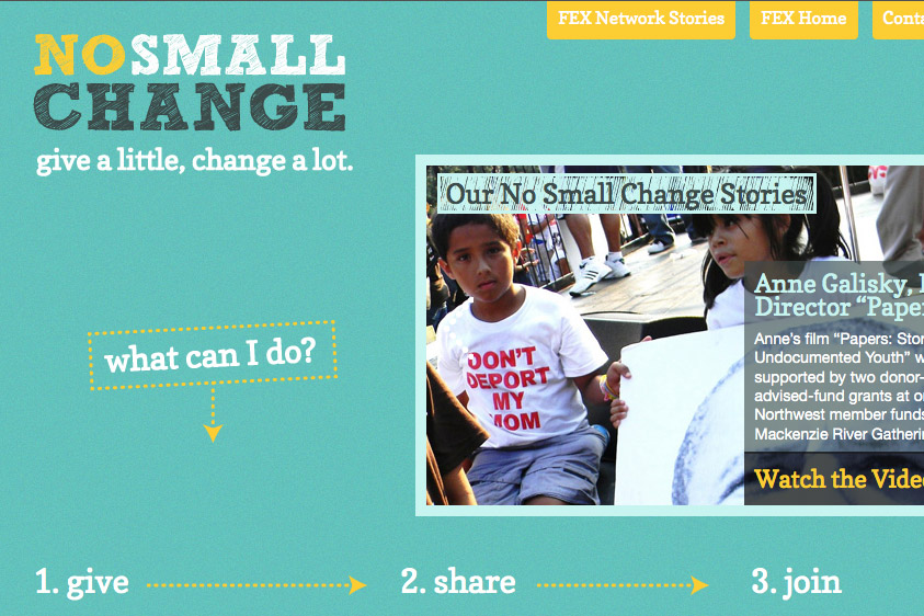 No Small Change: A Website for a (Giving) Revolution