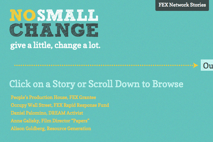 FEX: No Small Change: FEX No Small Change Microsite Stories