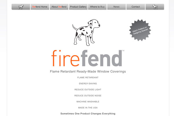 Firefend Curtains Homepage