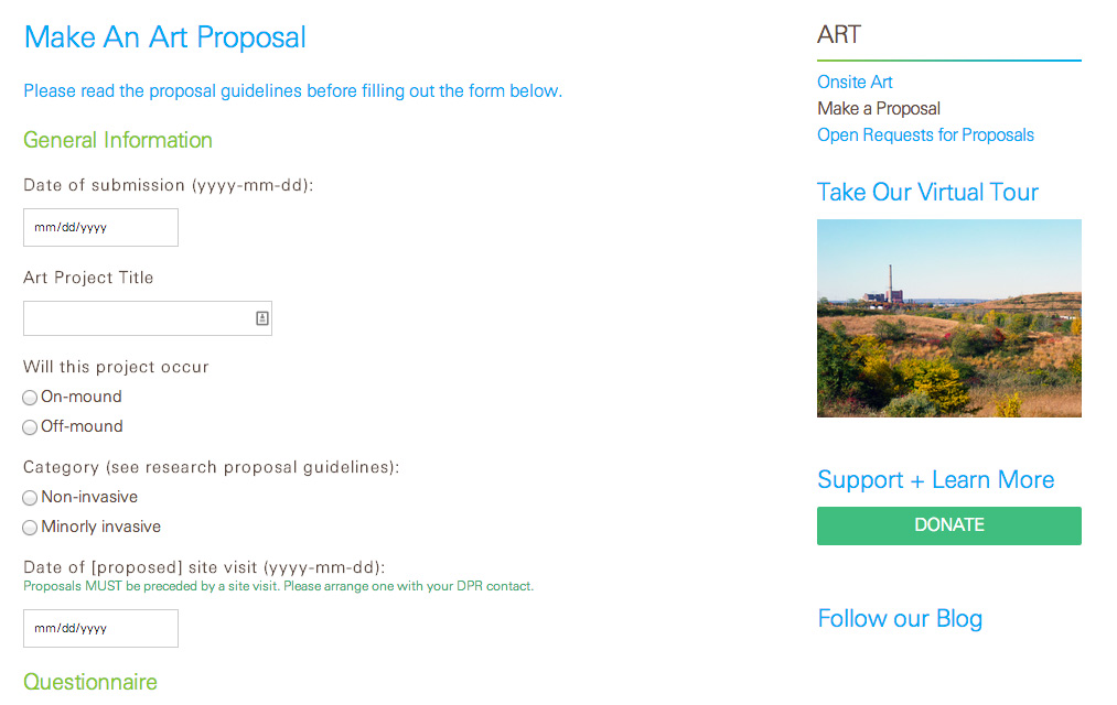 Freshkills Park Alliance: Freshkills Park Alliance: Art Proposals