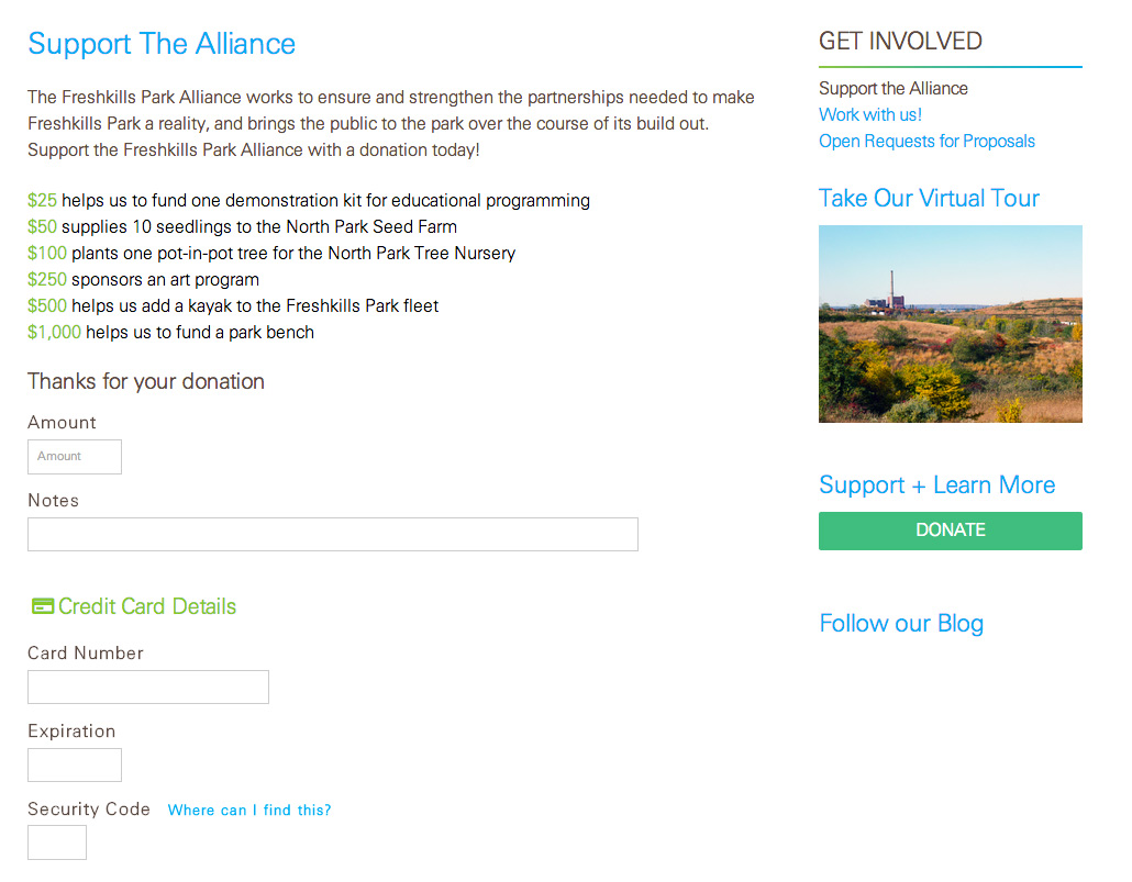 Freshkills Park Alliance: Freshkills Park Alliance: Donate