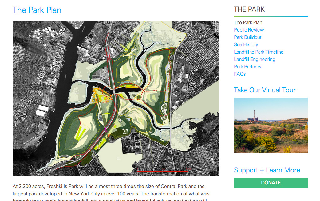 Smells like a new website! Freshkills Park Alliance relaunches with a robust new web presence.