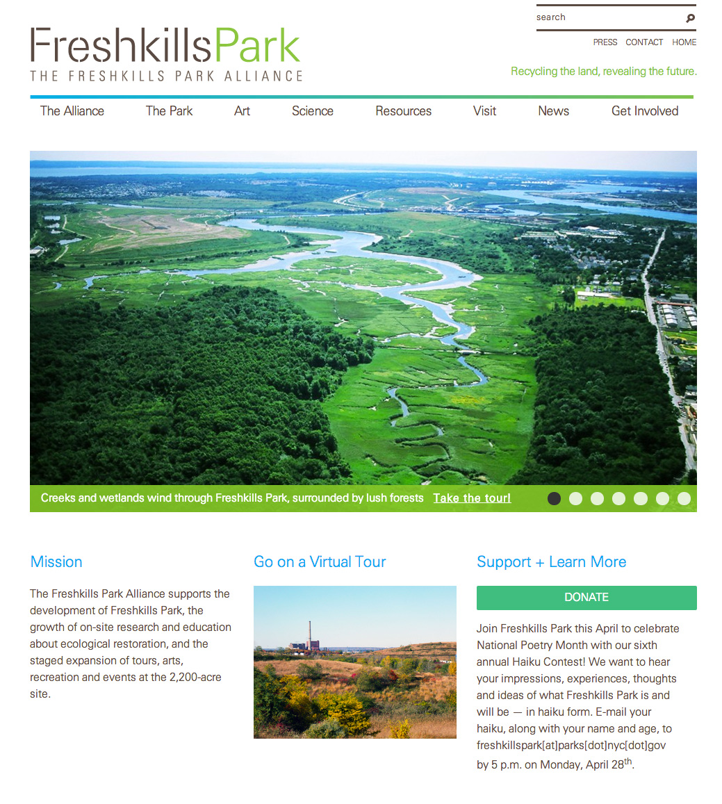 Freshkills Park Alliance: Freshkills Park Alliance: Homepage