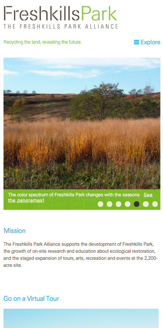 Freshkills Park Alliance: Freshkills Park Alliance: Responsive Design