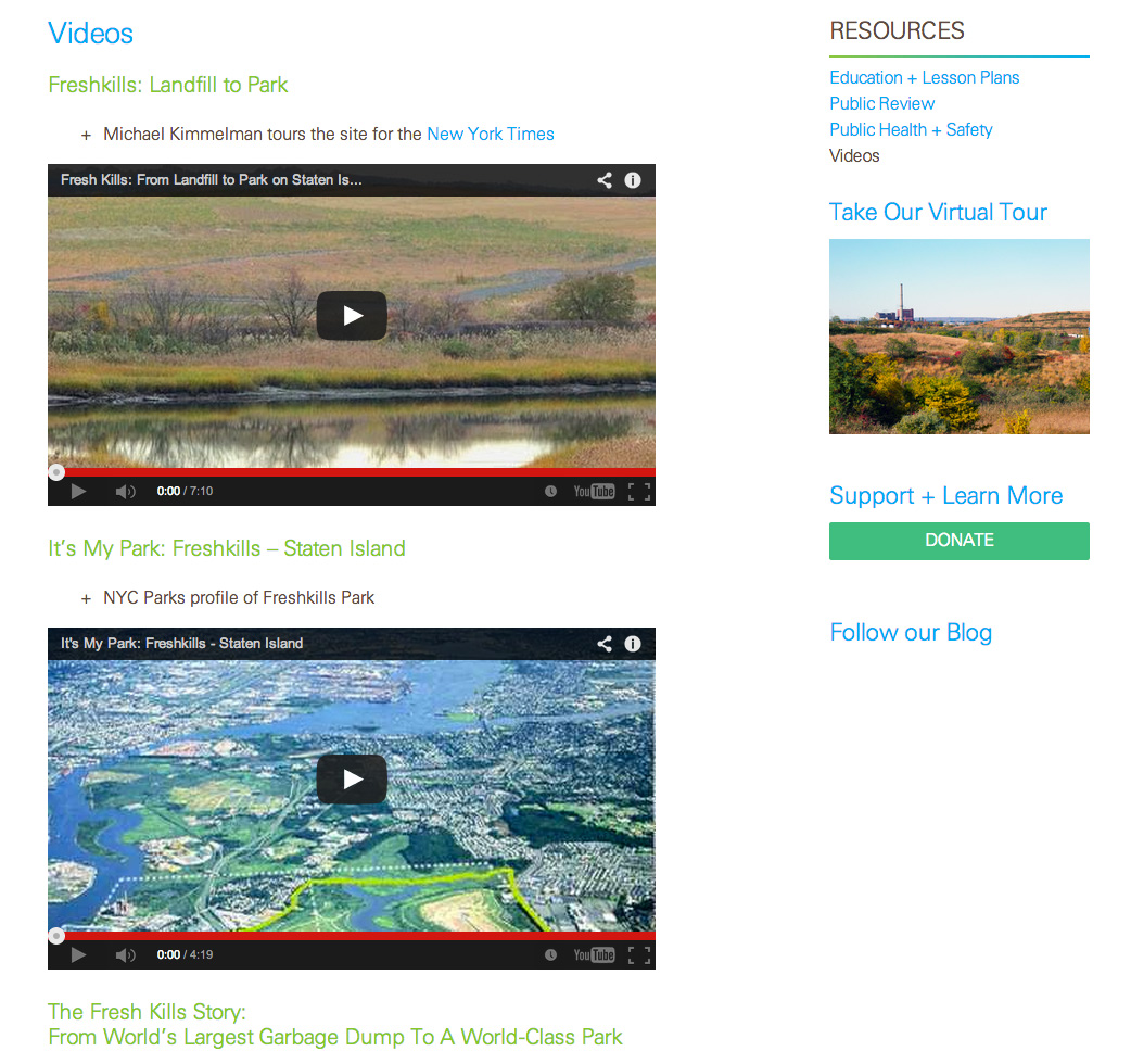Freshkills Park Alliance: Freshkills Park Alliance: Embedded Video