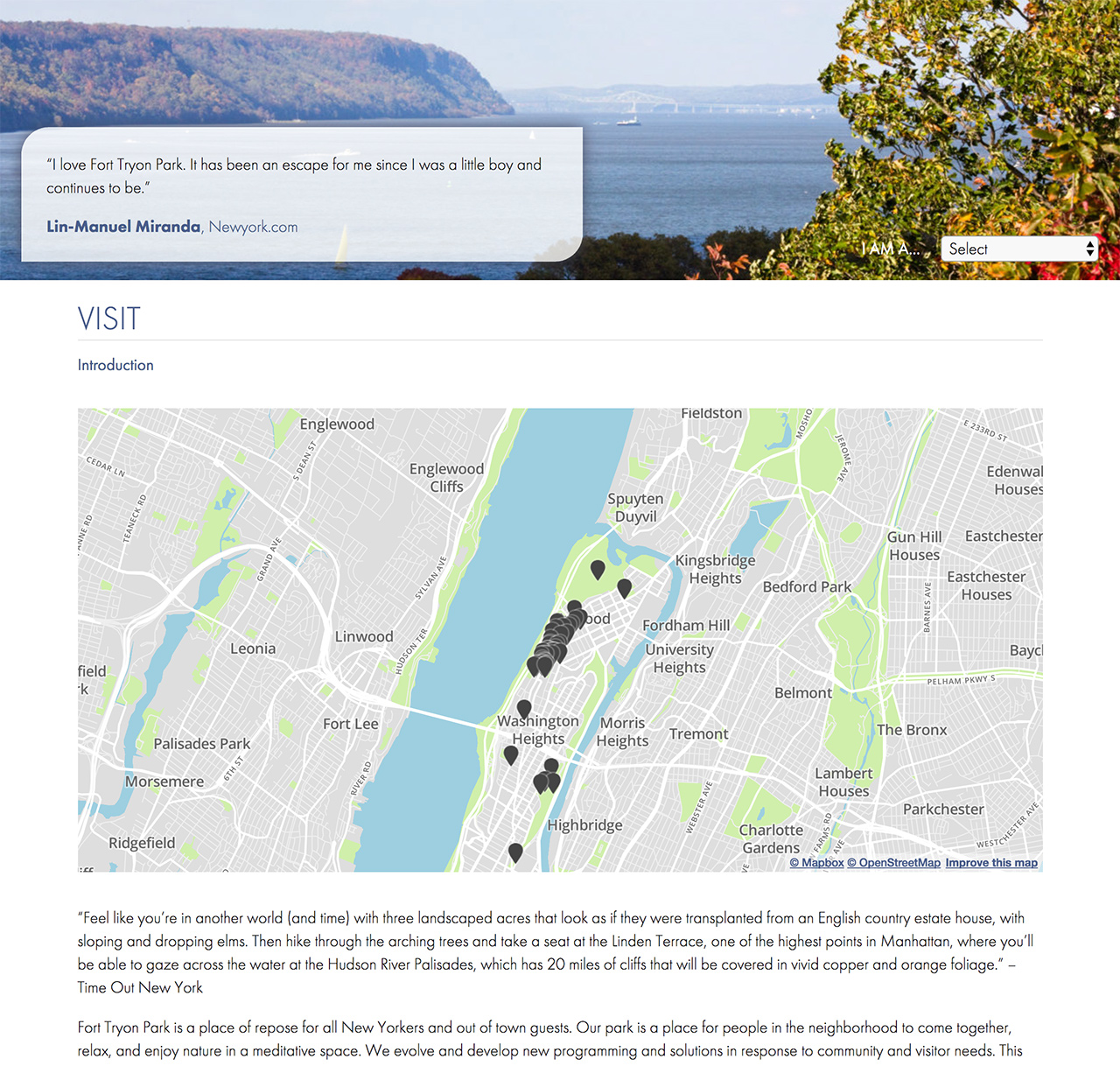 Fort Tryon Park Trust Data Integrated Park Map