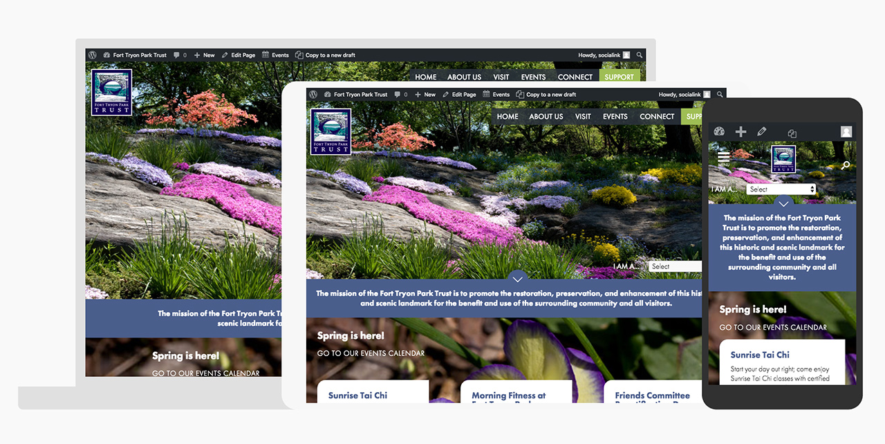 Fort Tryon Park Trust: Fort Tryon Park Trust Responsive Design