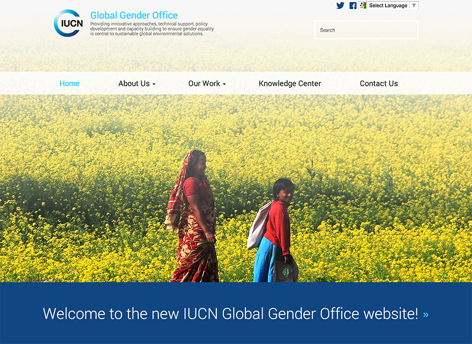 IUCN Global Gender Office new site launch