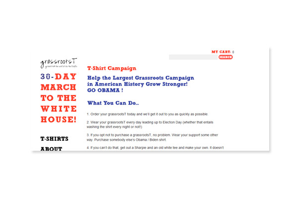 grassrootsT - Campaign for the White House: Grassroots T Home