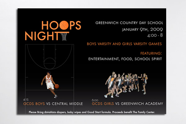 Hoops Night: Greenwich Country Day School Flyer