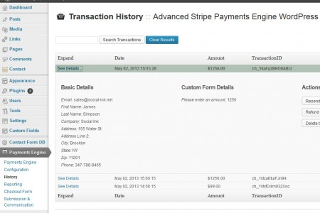 Advanced Payment Engine WordPress - Overview History