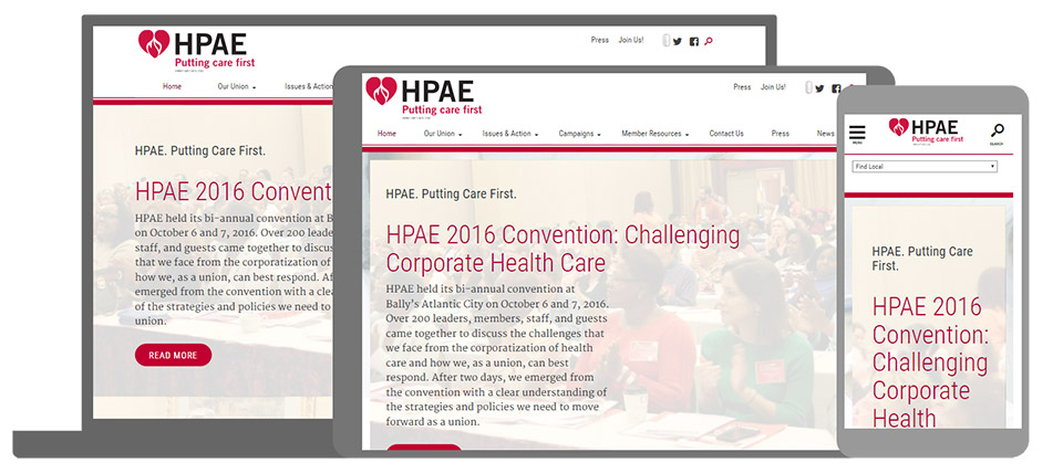 HPAE - Health Professionals and Allied Employees: Mobile Views