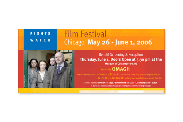 International Film Festival: Human Rights Watch NY Flyer
