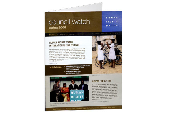 Human Rights Watch Council Report
