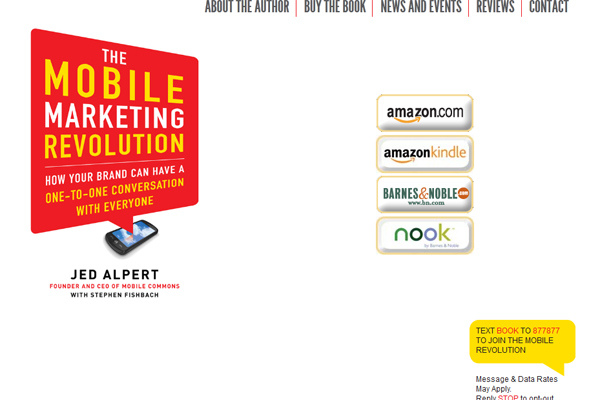 Mobile Marketing Revolution Homepage