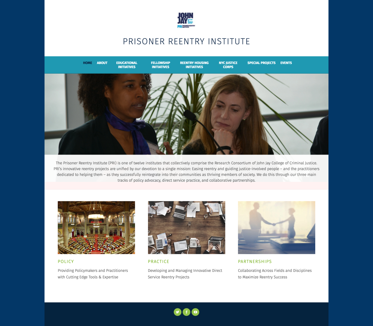 John Jay Prisoner Reentry Institute: John Jay Homepage