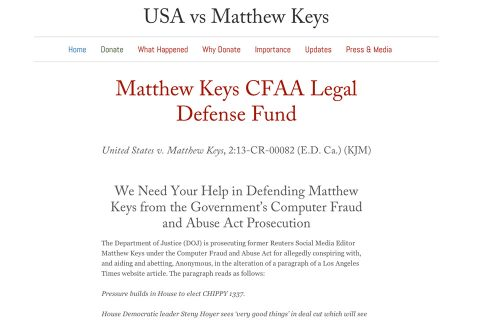 USA v Keys Homepage