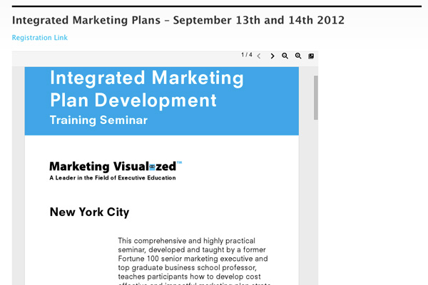 Marketing Visualized: Marketing Visualized Embedded Brochures