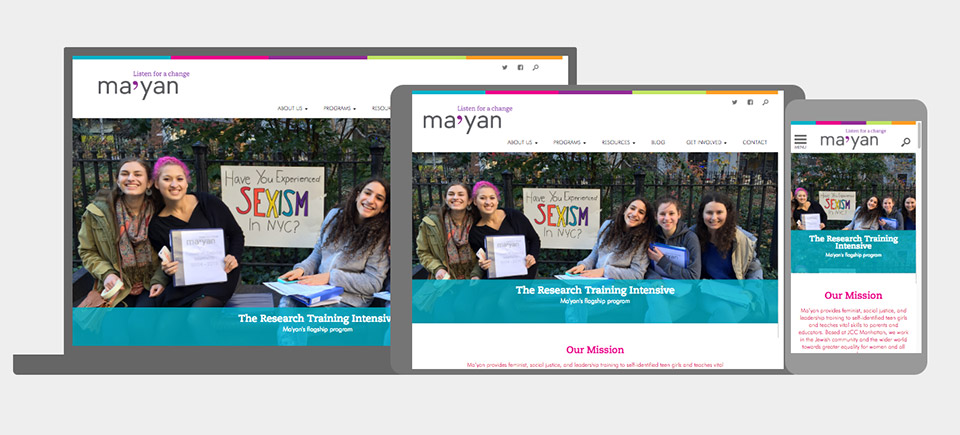 Ma'yan: Mobile and Responsive