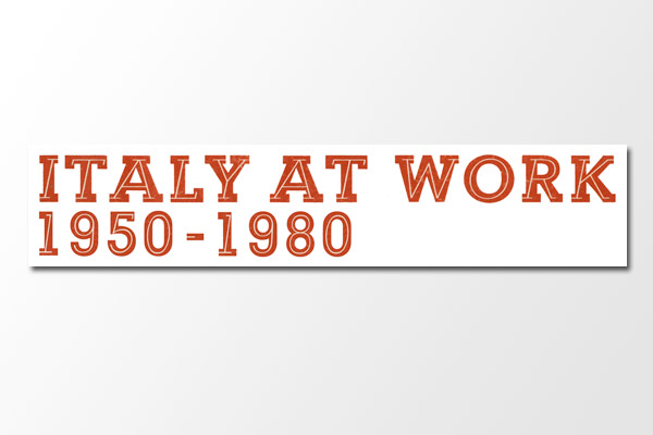 Italy at Work (Mondo Cane): Italy at Work Print / Logotype Recreation