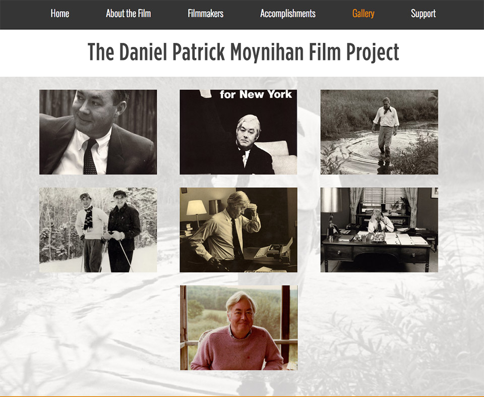 The Daniel Patrick Moynihan Film Project: Immersive Photo Gallery and Cinematic Slideshow