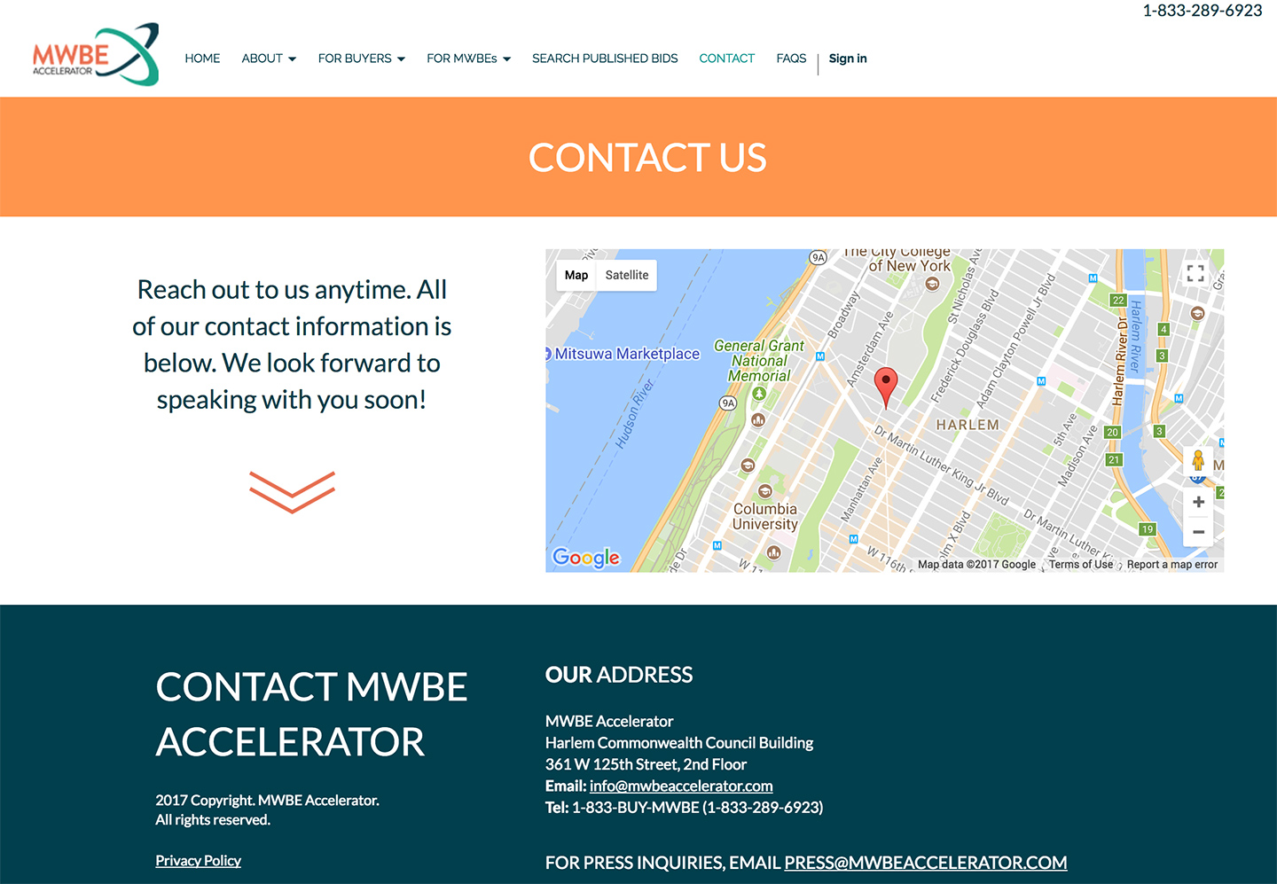 MWBE Accelerator: Embedded Map