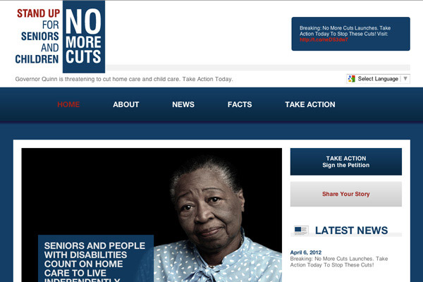 No More Cuts Illinois Homepage