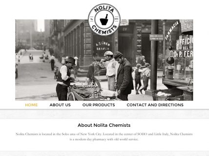 Nolita Chemists Homepage