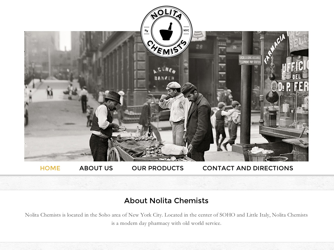 A new brand with an old world feel: Nolita Chemists